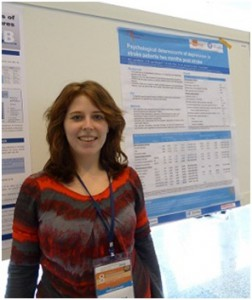 foto poster presentatie op de 8th World Congress for NeuroRehabilitation in Istanbul door Marloes van Mierlo